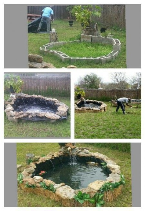 Diy water garden ideas 54 pond garden ideas and design for Garden fish pond ideas