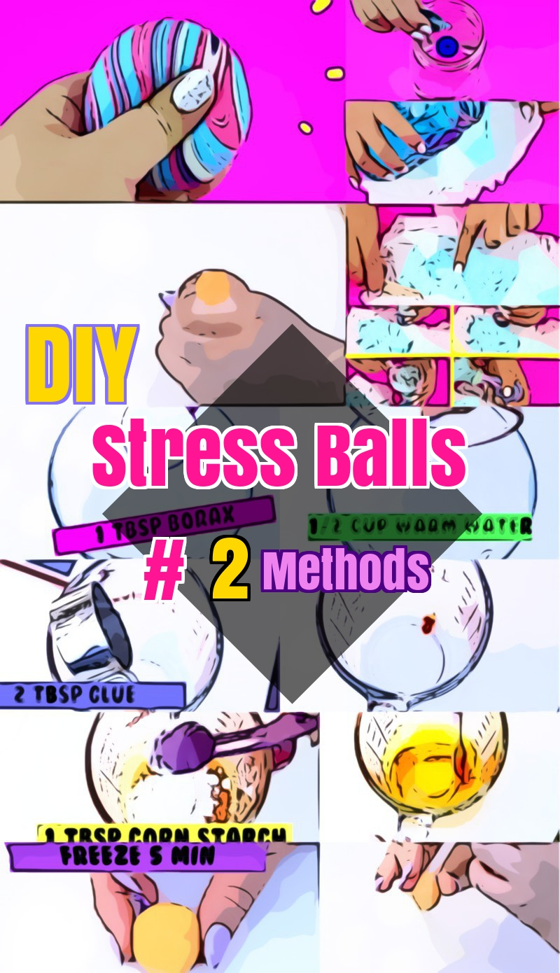 DIY stress balls with diaper and borax