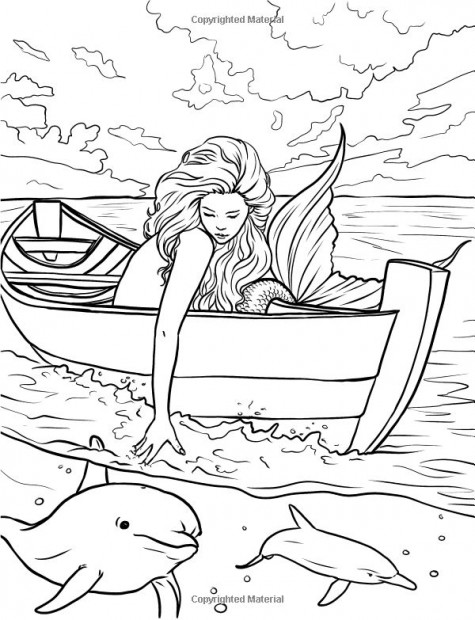 Mermaid-coloring-pages