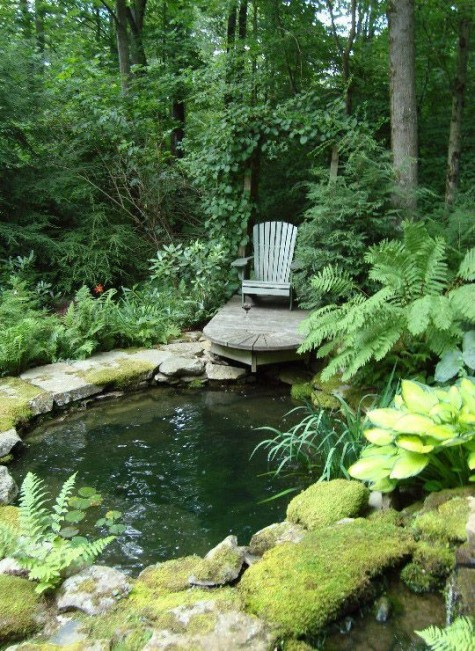 Diy water garden ideas 54 pond garden ideas and design for Koi pond pool