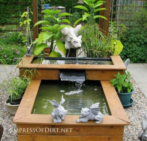 Diy water garden ideas 54 pond garden ideas and design for Raised fish pond ideas
