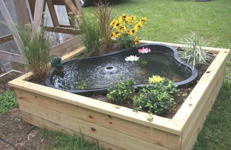 Diy water garden ideas 54 pond garden ideas and design for In ground koi pond