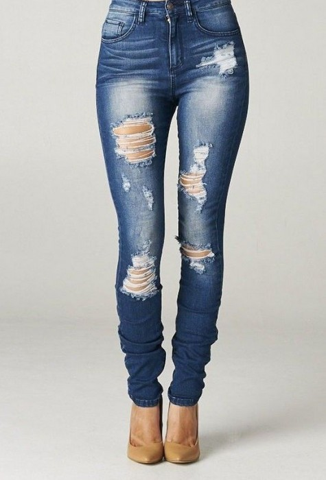 DIY Ripped Jeans: How to make Ripped Jeans Tutorial and Ideas ...
