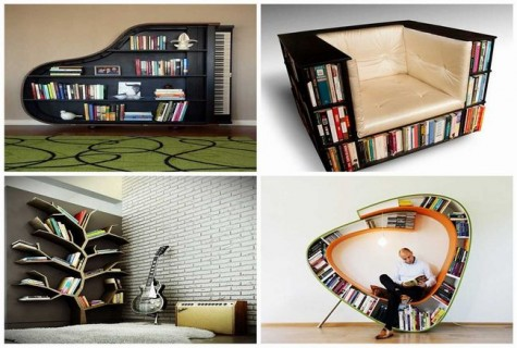 Creative Bookshelves Design and Ideas