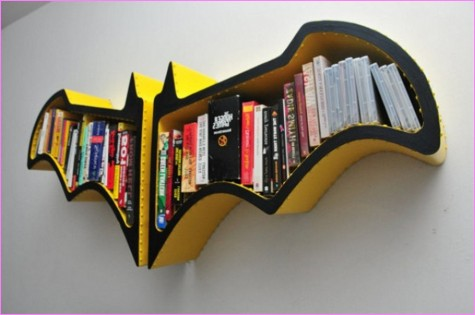 Creative Unique Batman Bookshelves For Kids. DIY Bookshelf .