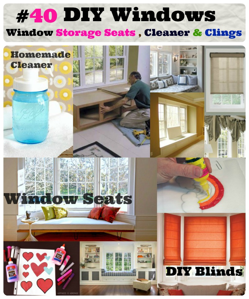 DIY Window  storage seats window cleaner and treatment