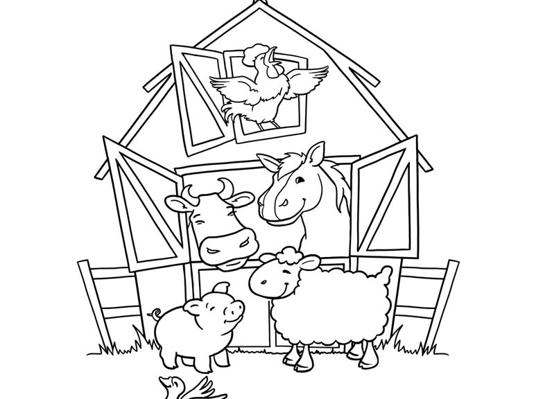 farm coloring pages kids - photo#15