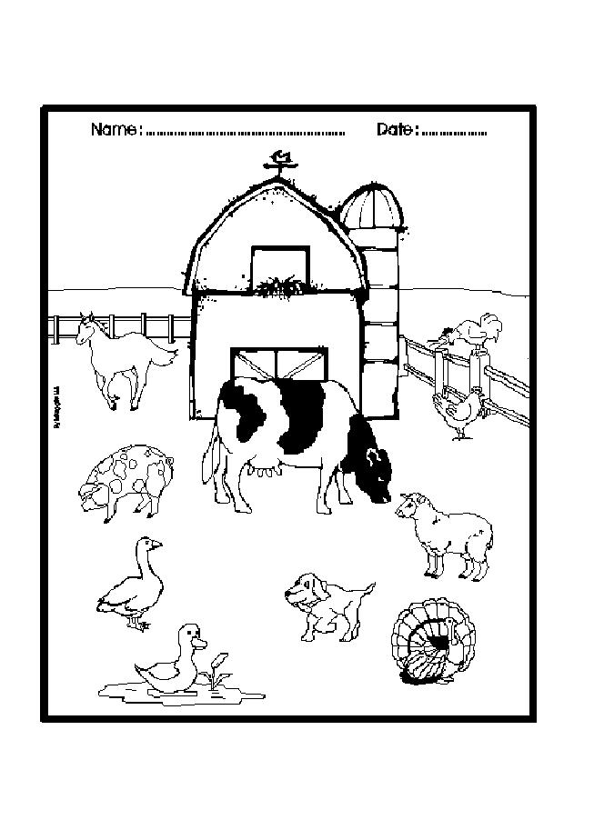 comic barnyard animals coloring pages - photo#26