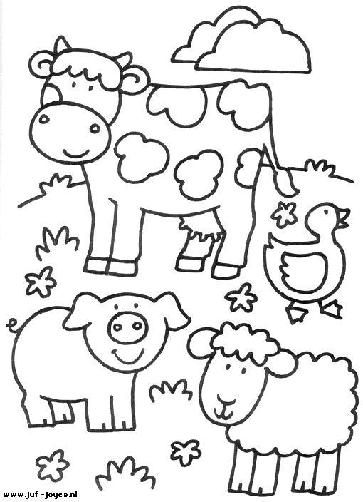 cartoon farm coloring page