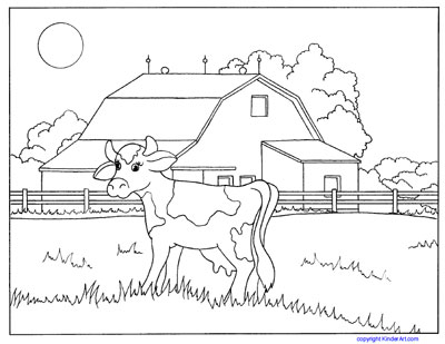 farm coloring pages kids - photo#34