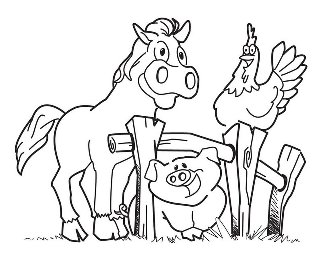 farm coloring pages kids - photo#1