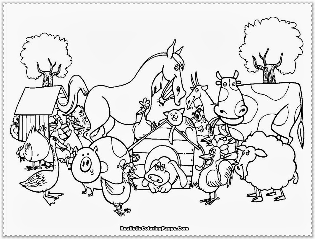 Diy farm crafts and activities with 33 farm coloring for Free printable coloring pages farm animals