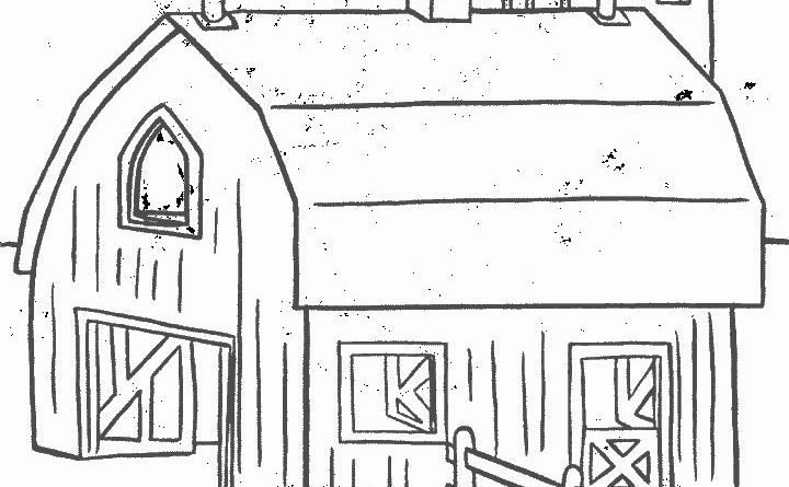 farm house coloring pages - photo#4