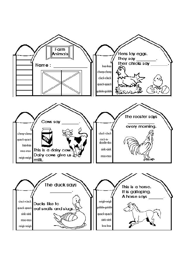 farm animals and coloring pages - photo#45
