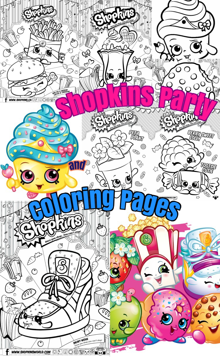 coloring pages party - 20 shopkins party craft ideas and shopkins coloring pages
