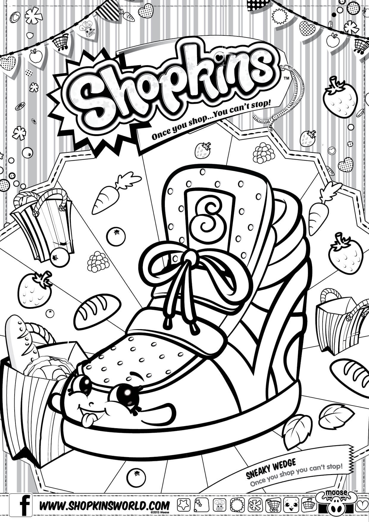 shopkins coloring pages 1