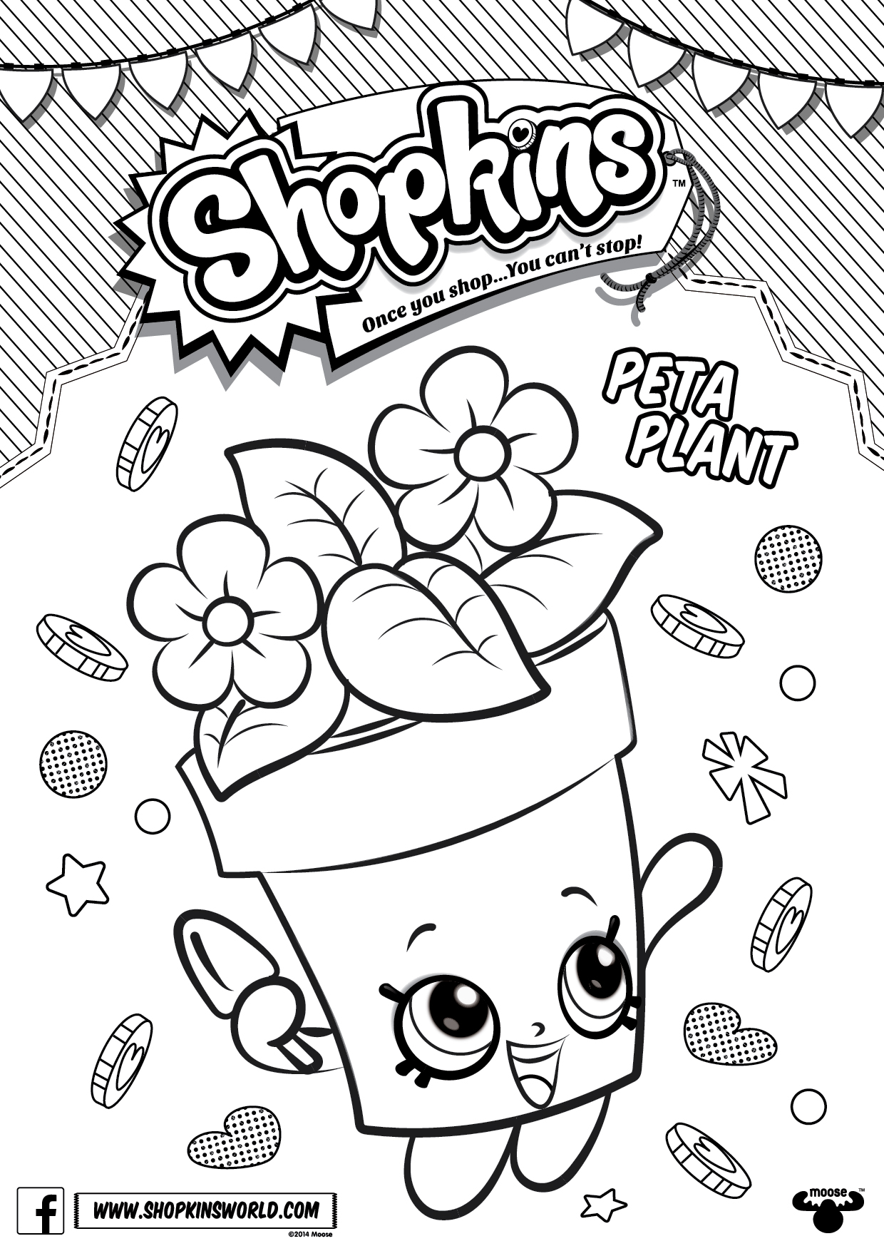 Shopkins coloring pages wishes - Shopkins Coloring Pages 4