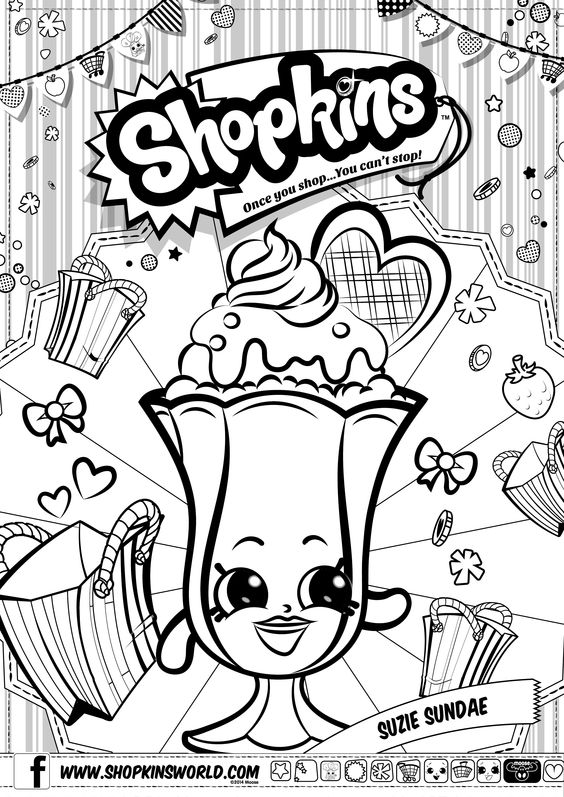 Shopkins Coloring Pages 9