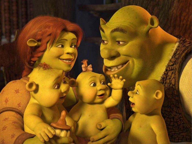 Shrek and Princess Fiona love and Babies