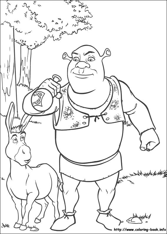 Diycraftsfoodtrulyhandpicked Wp Content Uploads 2016 08 Shrek Coloring Pages 4