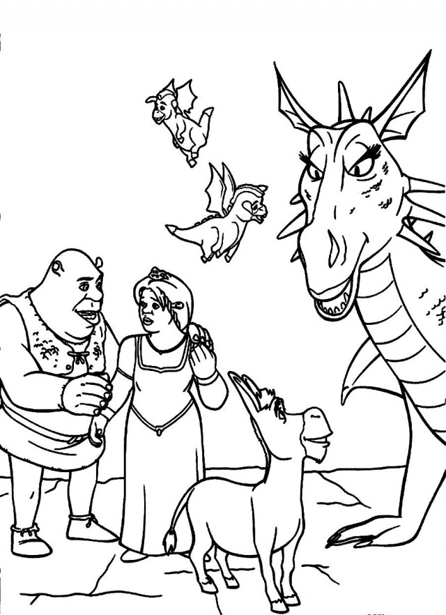 schreak coloring pages free - photo#15