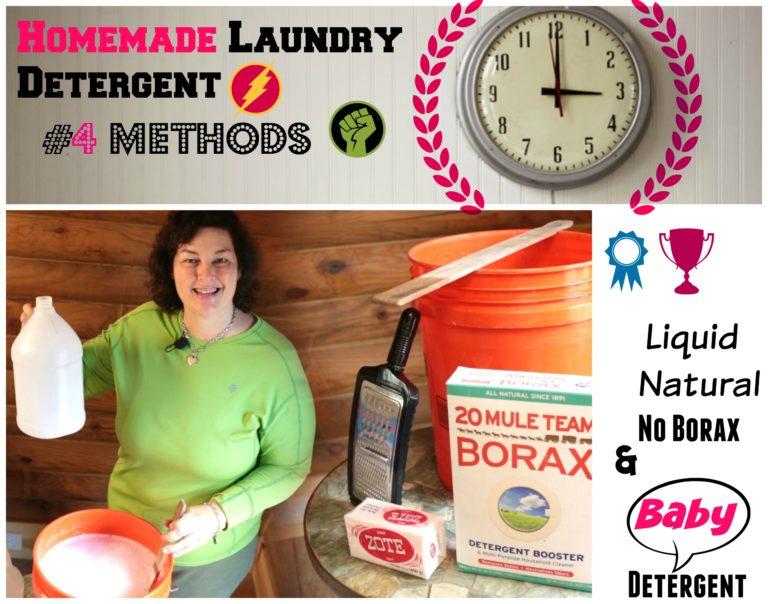 Homemade Laundry Detergent Liquid Natural And Borax Free