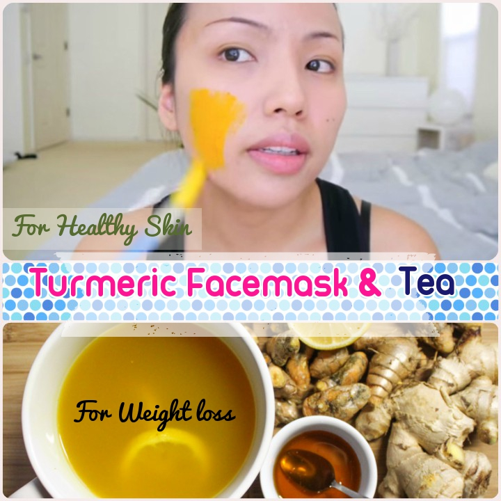 3 Turmeric Facemask, Turmeric Tea and Skin care