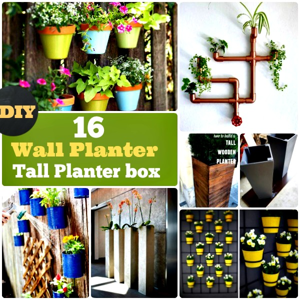 DIY Tall and Wall Planter Box pots