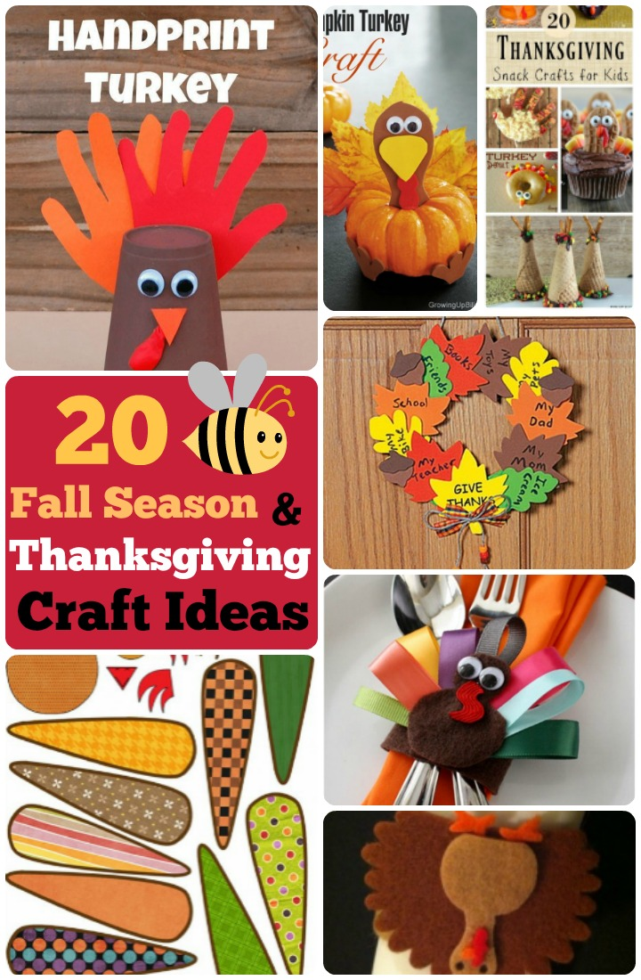 Fall season and Thanksgiving craft ideas for kids and toddlers