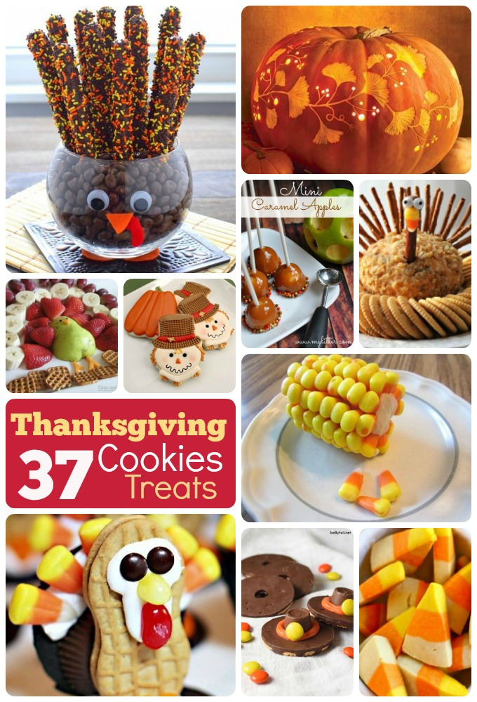 DIY Thanksgiving cookies treats recipes ornaments ideas