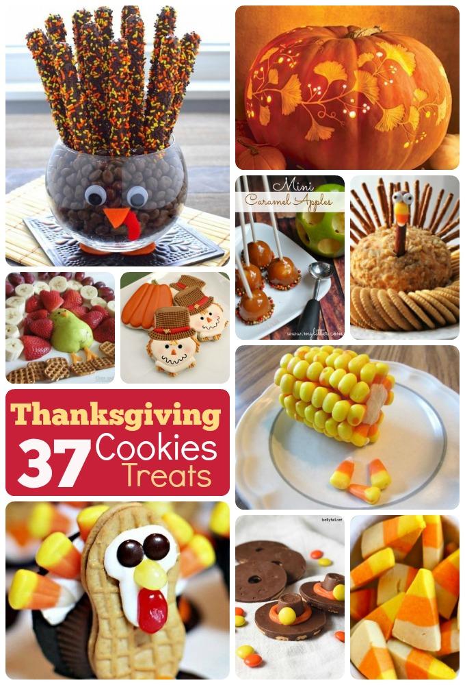 DIY Thanksgiving cookies treats recipes ornaments ideas