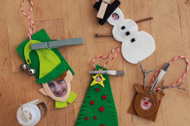 DIY Christmas Photo personalized Felt Ornaments