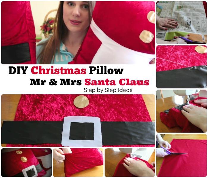 DIY Christmas Santa Claus Pillow Cover
