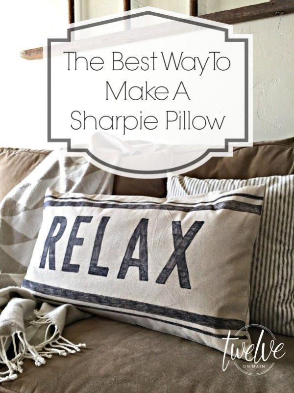DIY Christmas Sharpie Pillow