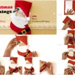 #20 DIY Christmas Stockings & Pillows : Step by Step Sew Pattern & Glue