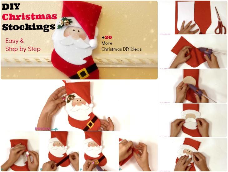 DIY Christmas Stockings Santa Claus Stockings
