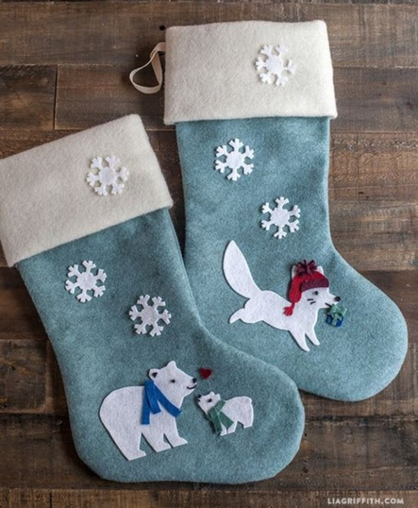 20 Diy Christmas Stockings Pillows Step By Step Sew