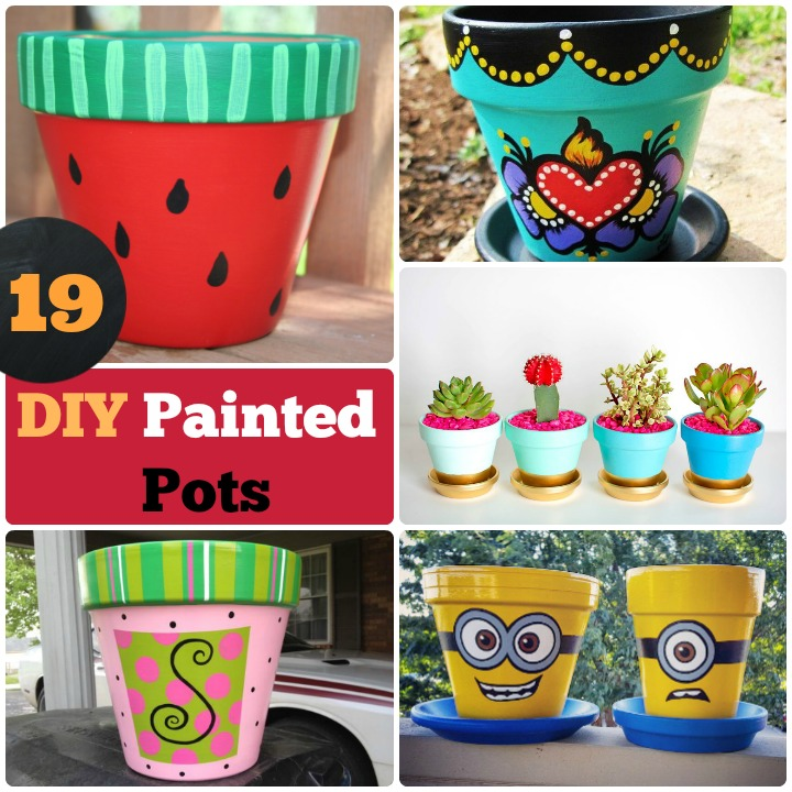 DIY painted pots how to paint pots
