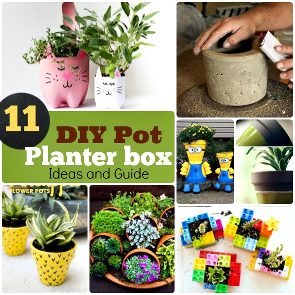 DIY Pot Planter Box Ideas