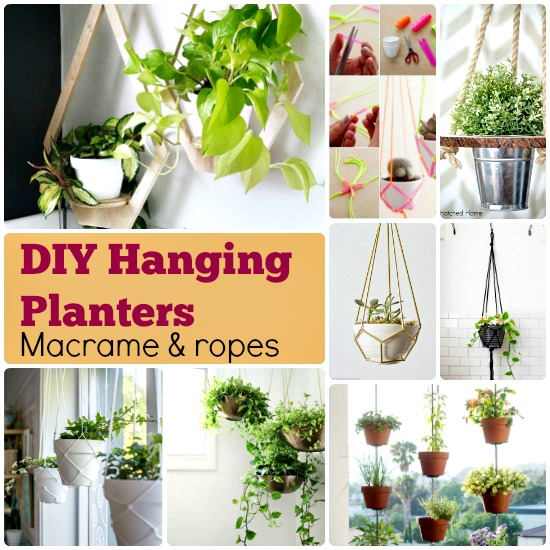 Hanging Wall Garden Diy : Diy planter box ideas modern concrete hanging pot