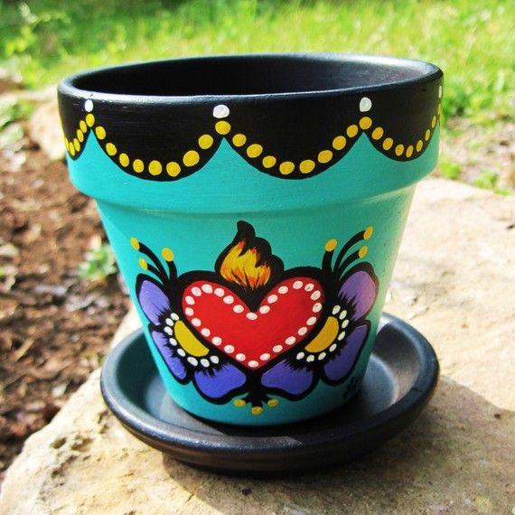 DIY Painted flower pots