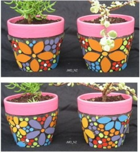 19 diy painted pots how to paint pots for a adorable garden - Terras versieren ...