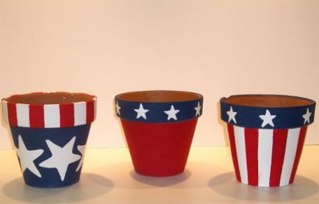 DIY painted pot planters