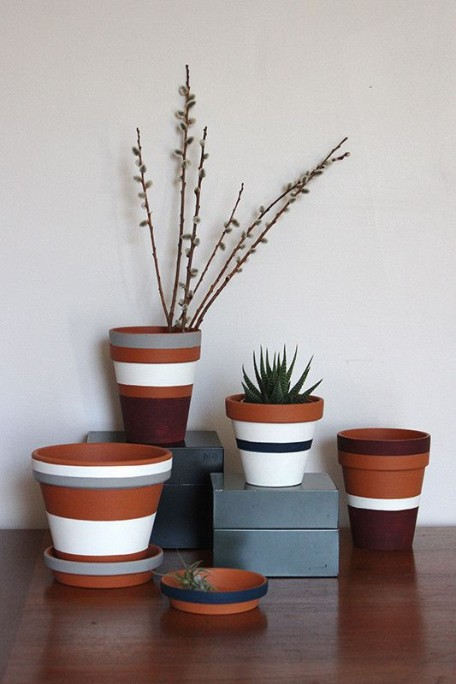 DIY painted pot planters