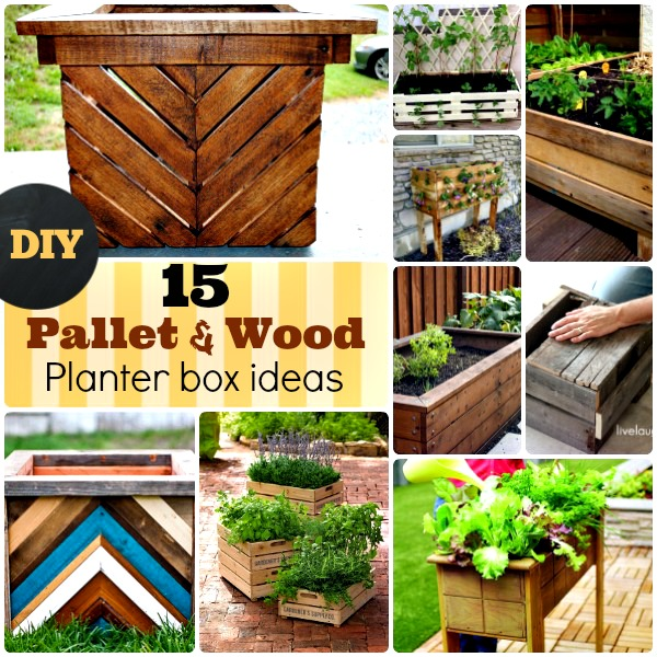 DIY Wood and pallet planter box