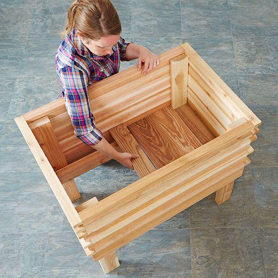 Planter Box Plans: #70 DIY Planter Box Ideas: Modern Concrete, Hanging, Pot
