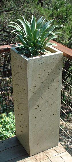 Cement Container Planters : Diy planter box ideas modern concrete hanging pot