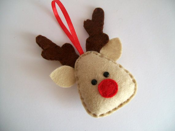 DIY Christmas felt ornaments reindeer
