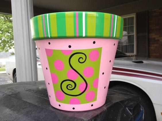 Painted Flower Pots DIY