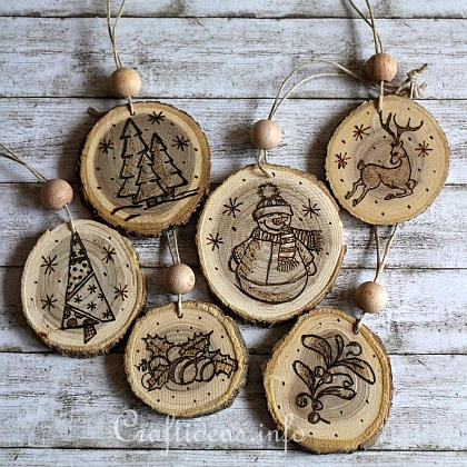 Christmas Wooden Ornament Design